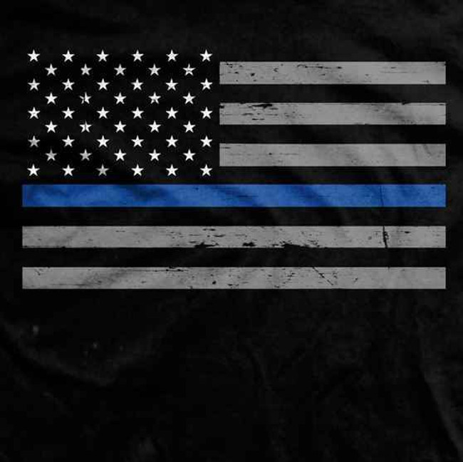 Ranger Up Thin Blue Line Flag T-Shirt RU643