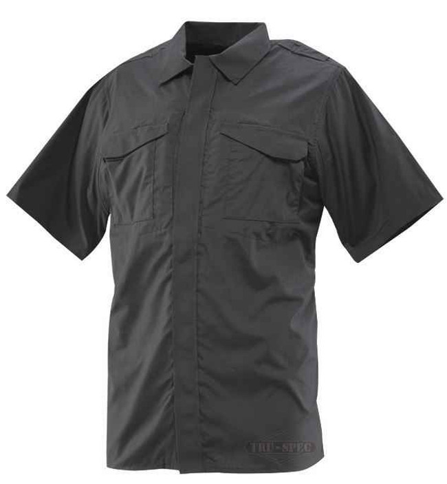 TRU-SPEC 24-7 Series Men's Ultralight Short Sleeve Uniform Shirt black