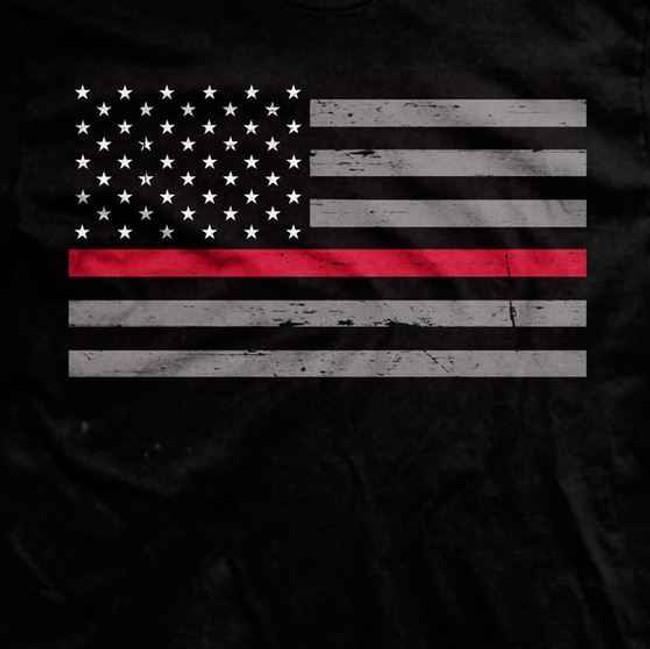 Ranger Up Thin Red Line Flag T-Shirt RU672