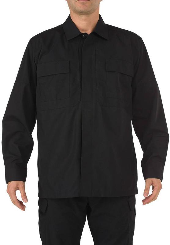 5.11 Tactical Men's TDU Long Sleeve Shirt - Black