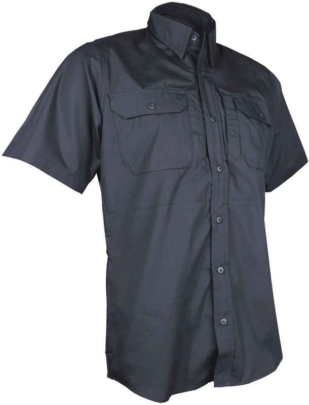 TRU-SPEC 24-7 Series Men's Ultralight Short Sleeve Dress Shirt black front