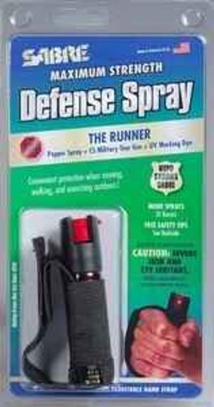 Sabre Red Black Runner Pepper Spray P-22J 023063151229