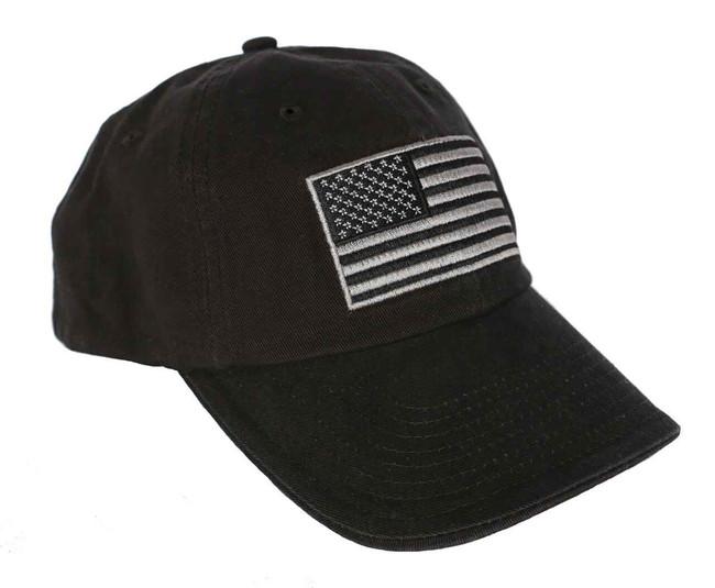 LA Police Gear Tactical USA Flag Hats - Black FLAG-NOLOGO-BLACK 123456789248