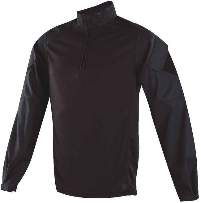 TRU-SPEC Urban Force TRU 1/4 Zip Combat Shirt black front