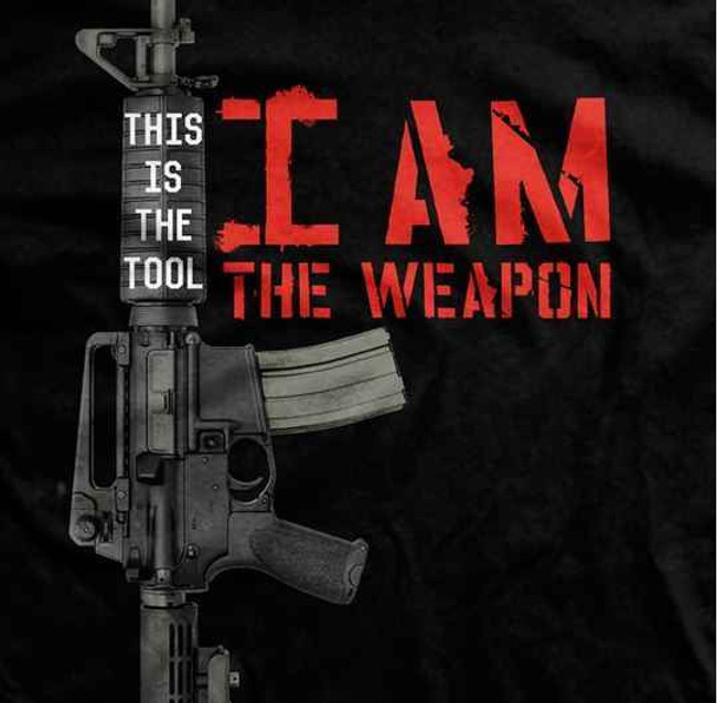 Sheepdogs, Inc I Am The Weapon T-Shirt SD004