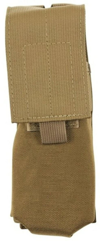 TUFF 60 Round Surefire Magazine Pouch coyote brown MOLLE front