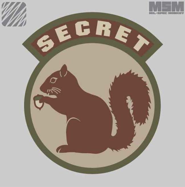 Mil-Spec Monkey Secret Squirrel Patch SECRETS
