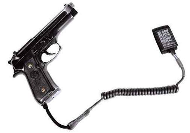 Blackhawk Tactical Pistol Lanyard Coiled Black 90TPL1BK 648018020919