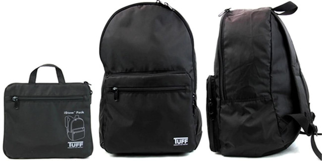 TUFF iStow Back Pack feature