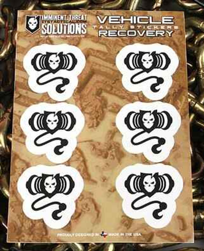 Imminent Threat Solutions Vehicle Recovery Stickers MR0250