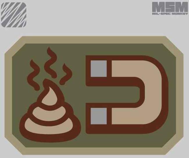 Milspec Monkey Shit Magnet Patches SHITMAGNET-PATCH
