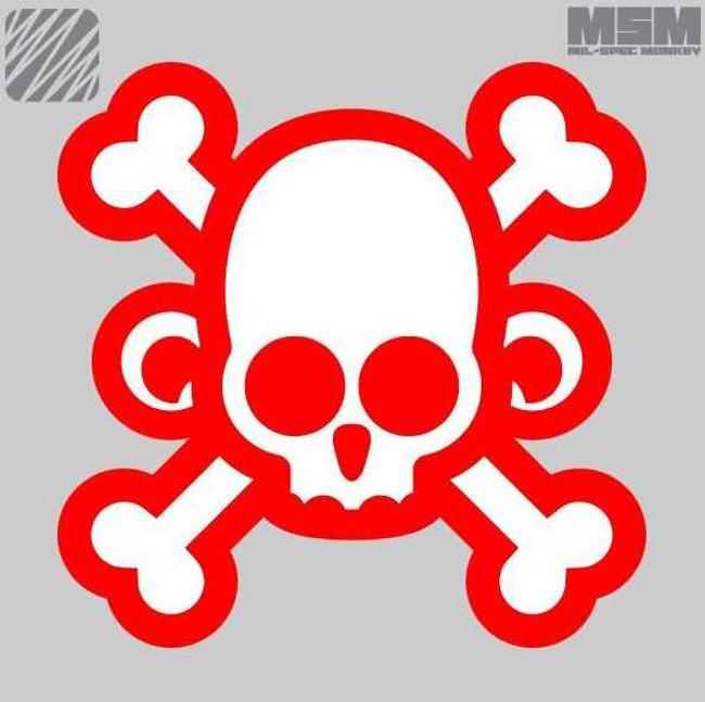 Mil-Spec Monkey Skull Monkey Cross Patch SKULL-MONKEY-CROSS
