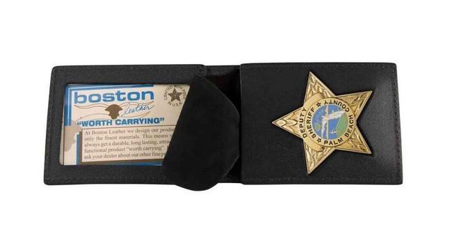 Boston Leather 200 Billfold Badge Case 200-S - Main View - LA Police Gear