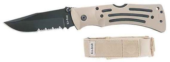 Ka-Bar Knives Desert Mule Folder Serrated Edge Knife 3053-KB 617717230530