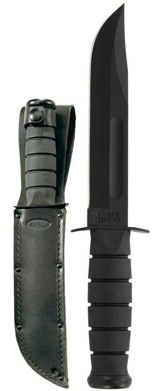 Ka-Bar Knives Black Straight Edge Knife 1211