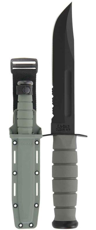 Ka-Bar Knives Foliage Green Serrated Edge Fighting Knife 5012-KB 617717250125