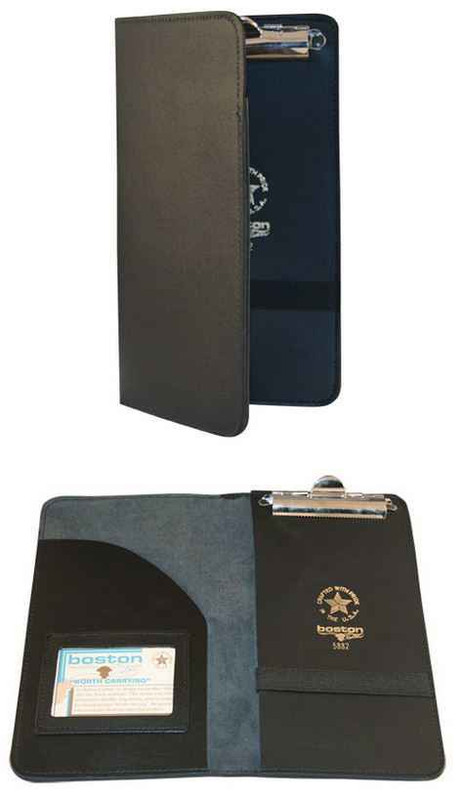 Boston Leather Citation Holder with Pocket, ID Holder, and Slot for Ticket Book 5882 192375129315 - LA Police Gear