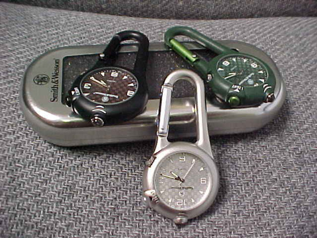 Smith and Wesson Carabiner LED Light and Watch 36-SW