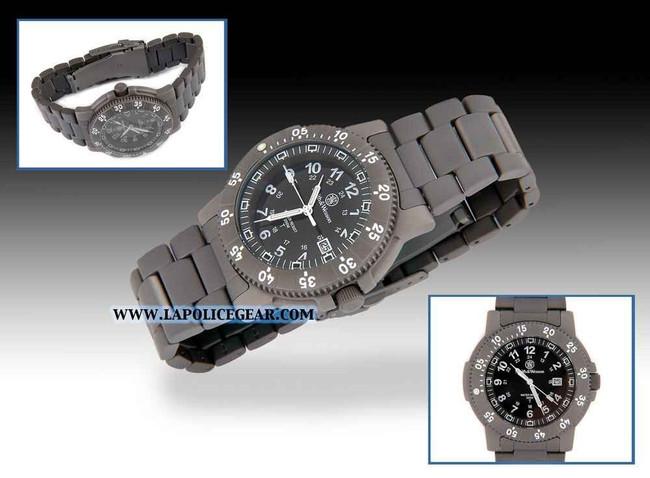 Smith and Wesson H3 Titanium Tritium Watch Black 357T-BLACK 024718135717