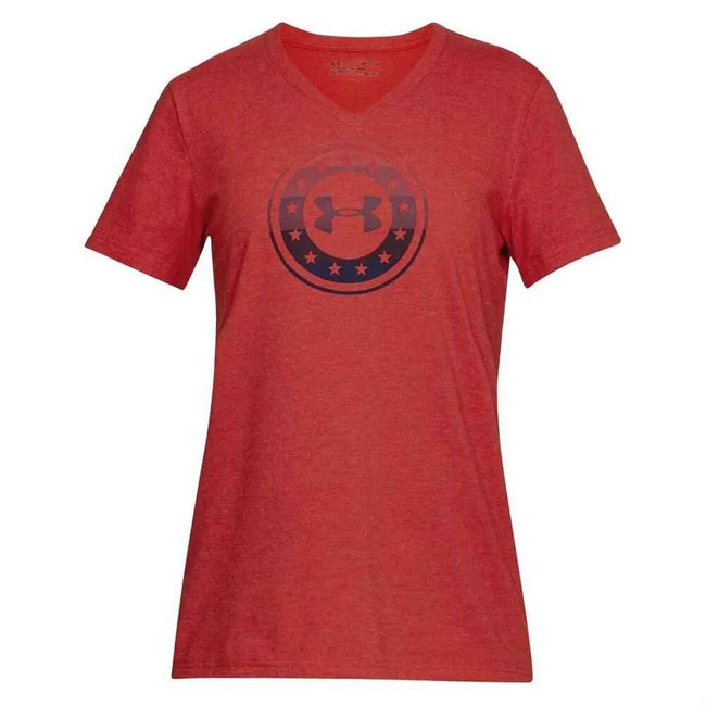 Under Armour Womens Freedom Circle V-Neck T-Shirt 1305247