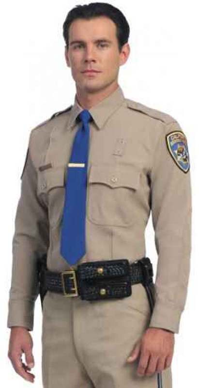 United Uniform Mens CHP Long Sleeve Banded Collar UM11806