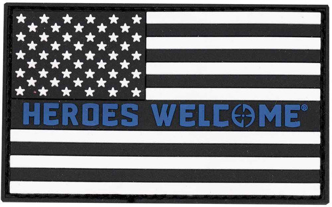 LA Police Gear Heroes Welcome Flag Patch PATCH-HEROESWELCOME
