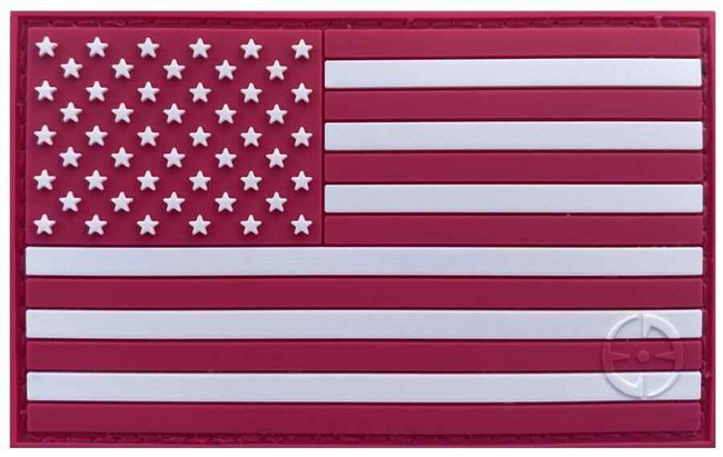 LA Police Gear Pink Flag Patch PATCH-PINK-FLAG