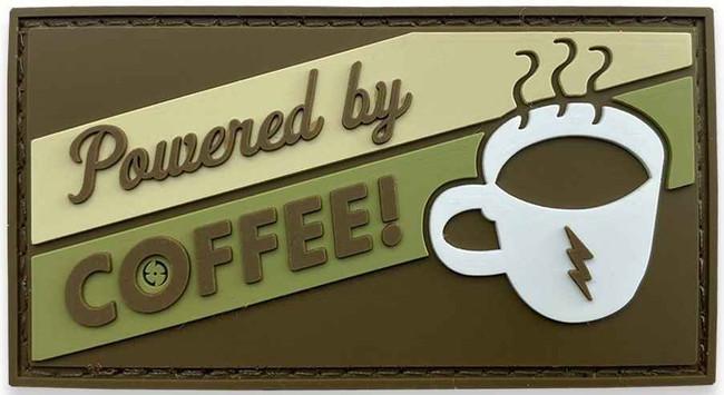 LA Police Gear Powered by Coffee PVC Patch PATCH-PB-COFFEE