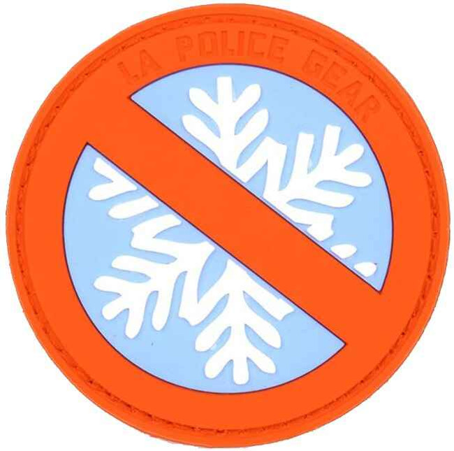LA Police Gear Snowflakes Patch PATCH-SNOWFLAKES