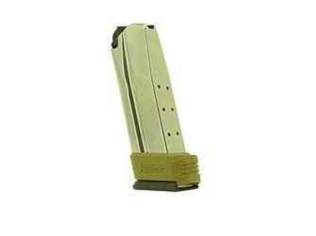 Springfield Armory Mag 45 ACP 10Rd Stainless with Flat Dark Earth Sleeve Extension Compact XD XD4551 706397872076