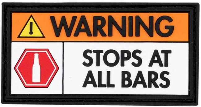 LA Police Gear Warning Patch PATCH-WARNING