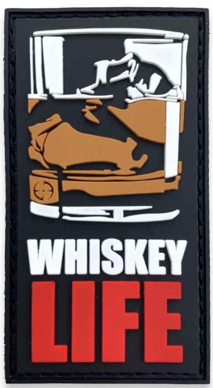 LA Police Gear Whiskey Life PVC Patch PATCH-WHISKEY
