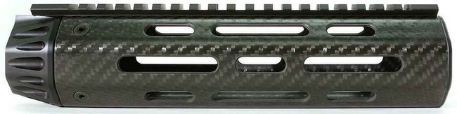 Lancer LCH5 Octagon Reduced Weight Mid-Length Carbon Fiber Handguard with Full Length Rail LCH5-08-V-0-FR 738435616847