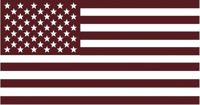 LA Police Gear Maroon US Flag Sticker FLAG-STICKER-MAROON