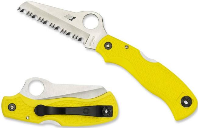 Spyderco Saver Salt Lightweight Yellow Knife C118SYL 716104008483