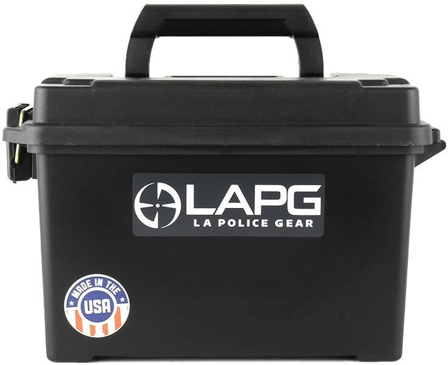 LA Police Gear Black .50 Cal Ammo Can AMMO-BOX 641606865800