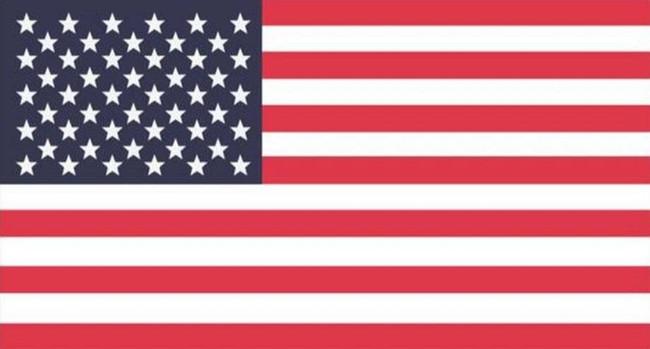 LA Police Gear Medium Red, White, and Blue US Flag 3.25 x 1.75 Sticker FLAGSTICKER-RWBM