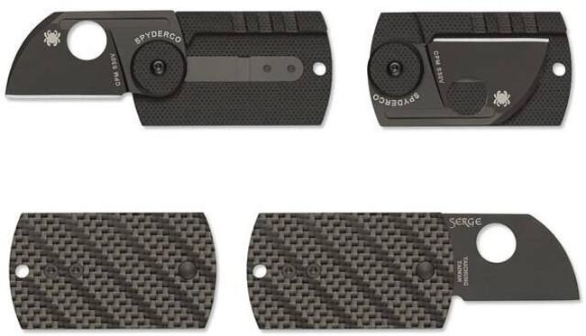 Spyderco Dog Tag Folder CF/G-10 Laminate Black Knife C188CFBBKP 716104010417