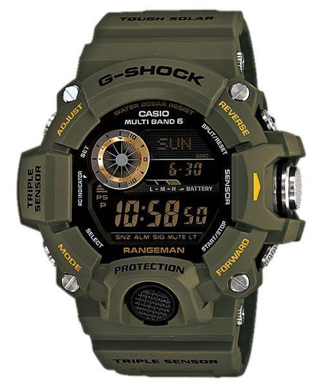 Casio G-Shock Rangeman Watch - Green GW9400-3CR 079767980658