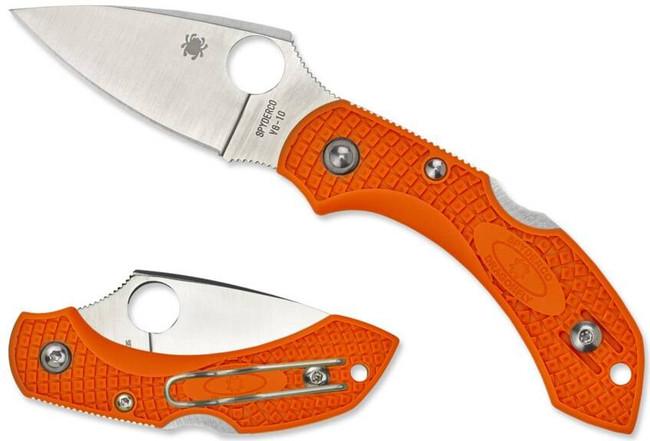 Spyderco Dragonfly 2 Lightweight Orange Plain Edge Folding Knife C28POR2 716104009596