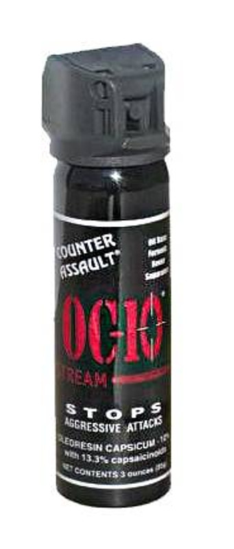 Counter Assault Stream Pepper Spray; 3 oz OC10-4S 722031412248