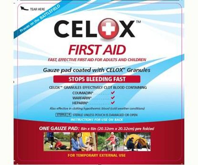 Celox Gauze Pad 8 x 8 0711GZP 813850010057