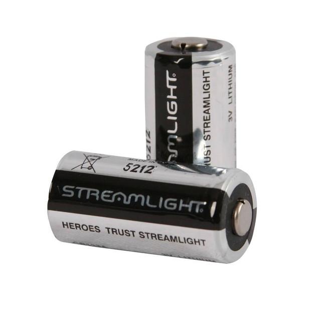 Streamlight 3V CR123 Lithium Batteries - 2 Pack 2PACK