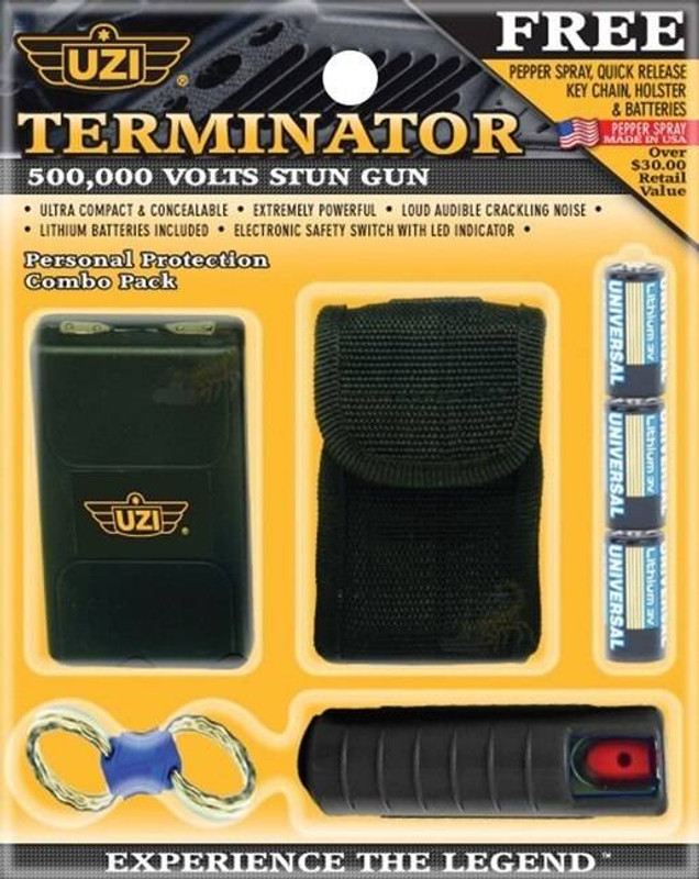 UZI 500,000 Volt Stun Gun and Pepper Spray Combo SG-COMBO 024718900049