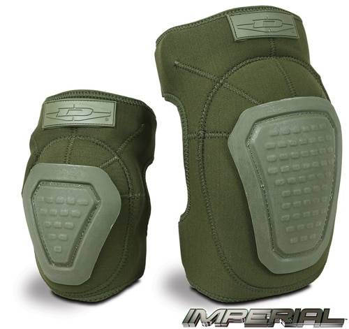 Damascus Gear Imperial Neoprene Knee or Elbow Pads with Reinforced Caps | OD Green |