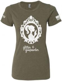 LA Police Gear Women's Glitter & Gunpowder T-Shirt