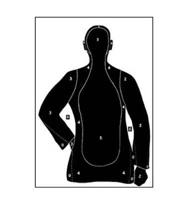 Law Enforcement Targets, Inc. B-21E Target - Minimum Quantity of 25 | Blue |