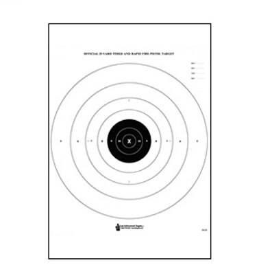 Law Enforcement Targets, Inc. B-8 Bullseye & Sighting Target - Minimum Quantity of 25 |