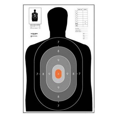 Law Enforcement Targets, Inc. B-27E PROS Target - Minimum Quantity of 25 | Orange |