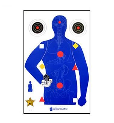 Law Enforcement Targets, Inc. Silhouette With Human Anatomy - Minimum Quantity of 25 | Gold |